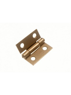 PAIR OF DOOR BUTT HINGES EB BRASS PLATED STEEL 25MM ( 1 inch )