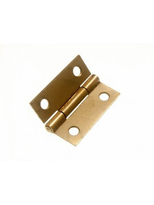 PAIR OF DOOR BUTT HINGES EB BRASS PLATED STEEL 38MM ( 1 1/2 inch )