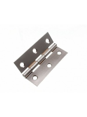 """PAIR OF DOOR BUTT HINGES (1838) CHROME PLATED 75MM x 50MM (3"""" x 2 """")"""