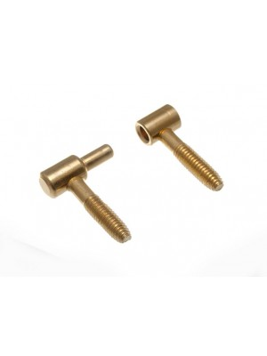 PAIR OF ANUBA SCREW LESS HINGES 36 X 9 EB BRASS PLATED STEEL