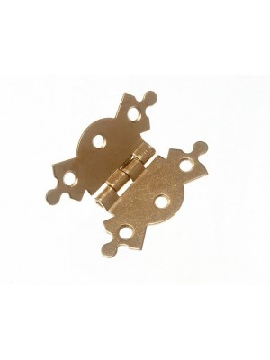 PAIR OF ORNATE DECORATIVE BUTTERFLY BOX HINGES 50MM