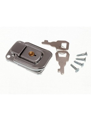 LOCKING CASE CATCH LATCH CP CHROME PLATED WITH 2 KEYS 48MM X 33MM