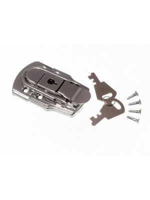 LOCKING CASE CATCH LATCH CP CHROME PLATED WITH 2 KEYS 72MM X 45MM