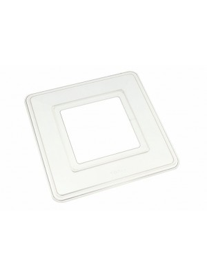 SINGLE SWITCH SURROUND PLATE SQUARE 150mm EXT. 75mm INT.CLEAR