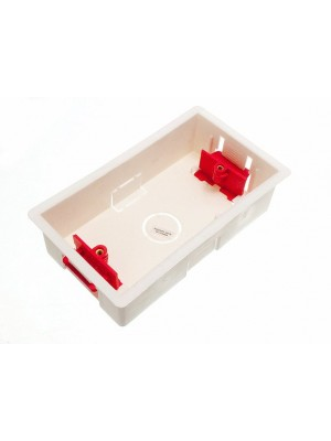 MOULDED HOLLOW WALL PATTRESS SWITCH SOCKET BACK BOX DOUBLE 35MM