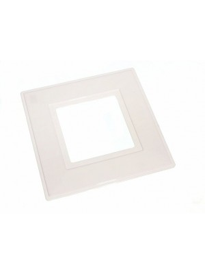 SINGLE SWITCH SURROUND PLATE SQUARE 150mm EXT. 75mm INT. WHITE