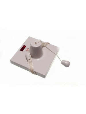 CEILING PULL CORD SWITCH BOX 45 AMP WITH NEON INDICATOR
