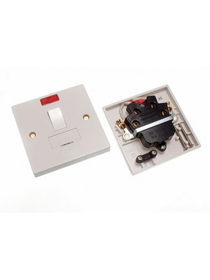 ELECTRIC FUSED SPUR JUNCTION BOX WITH SWITCH AND NEON INDICATOR