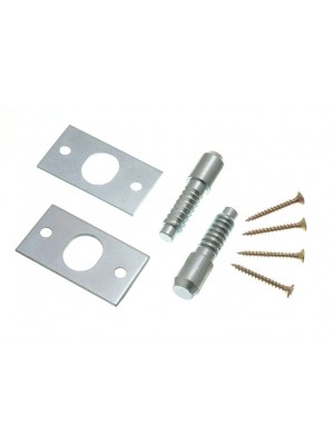 PAIR OF HINGE BOLTS SECURITY CATCH BZP ZINC PLATED STEEL WITH SCREWS