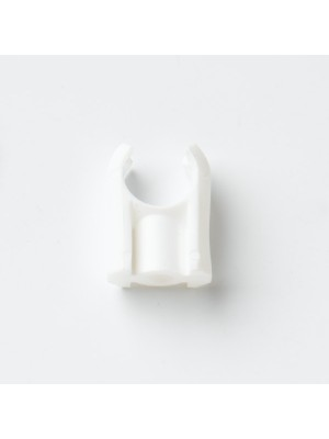 PIPE CLIPS WHITE SNAP OPEN PIPE BRACKETS 22MM 7/8 inch NYLON