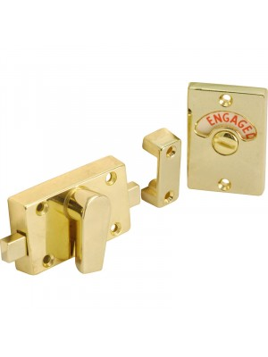 INDICATOR PRIVACY DOOR BOLT KIT ( ENGAGED / VACANT ) BRASS 60mm
