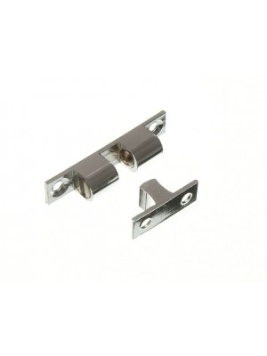 DOUBLE BALL CATCH CUPBOARD LATCH 42MM CHROME STAINLESS STEEL BALL
