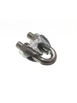 WIRE ROPE CABLE GRIP CLAMP U BOLT FIXING M10 BZP RUST PROOF STEEL