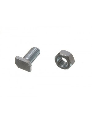 CROPPED ALUMINIUM BOLTS AND NUTS GREENHOUSE TYPE M6 x 11