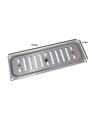 BRIGHT CHROME HIT AND MISS VENT VENTILATION GRILLE COVER 9 X 3 INCH