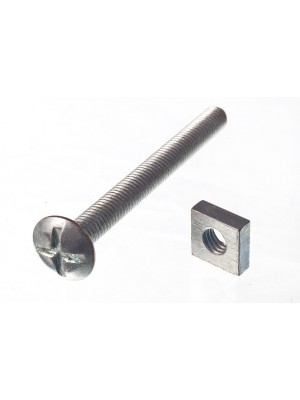 ROOFING BOLTS & SQUARE NUTS ZP ZINC PLATED M6 x 60