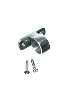 SASH WINDOW POLE LIFT EYE RING CHROME COMPLETE WITH FIXING SCREWS