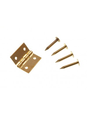 """MINI JEWELERY BOX CABINET HINGES SOLID BRASS 13MM ( 1/2 """" ) + PINS"""