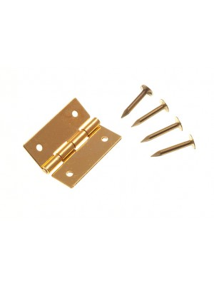 """MINI JEWELERY BOX CABINET HINGES SOLID BRASS 19MM ( 3/4 """" ) + PINS"""