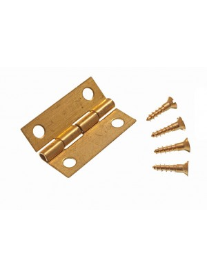 MINI JEWELERY BOX CABINET HINGES SOLID BRASS 25MM ( 1 inch ) + PINS