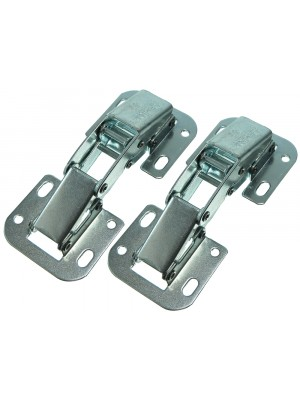 EASY FIT CABINET CUPBOARD HINGES UNSPRUNG WITH FIXING SCREWS BZP