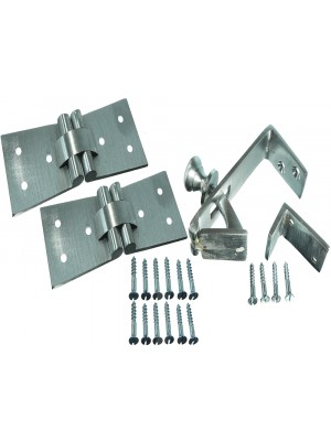 SET OF A COUNTERFLAP LATCH WITH 2 BACK FLAP HINGES PER SET + SCREWS
