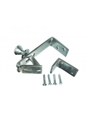 SATIN CHROME COUNTERFLAP BACK LATCH CATCH WITH KEEPER + SCREWS
