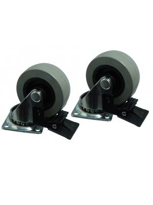 """PLATE FIX SINGLE CASTER DOLLY WHEEL SWIVEL WITH BRAKE 50MM ( 2 """" )"""