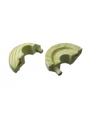 PINE PIPE ROSE RADIATOR COLLAR RING SOLID WOOD FOR 15MM PIPEWORK