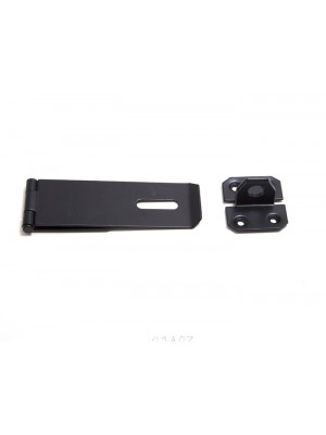 HASP AND STAPLE ( 4.5 inch ) 110MM x ( 1.5 inch ) 40MM STEEL BLACK