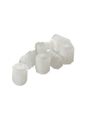 CAM PRE - INSERTED FURNITURE CONNECTING NUTS WHITE NYLON M6 x 10.5mm