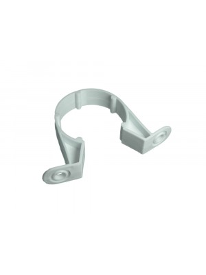 PIPE CLIPS WHITE SADDLE WASTE PIPE BRACKETS 32MM 1 1/4 inch PLASTIC