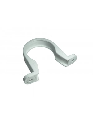 PIPE CLIPS WHITE SADDLE WASTE PIPE BRACKETS 40MM 1 1/2 inch PLASTIC