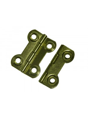 BUTTERFLY FANCY HINGES ORNATE EB BRASS PLATED 38MM X 28MM