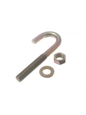 HOOK ROOFING BOLT FIXING M8 X 80MM ZY ZINC PLATED RUST RESISTANT