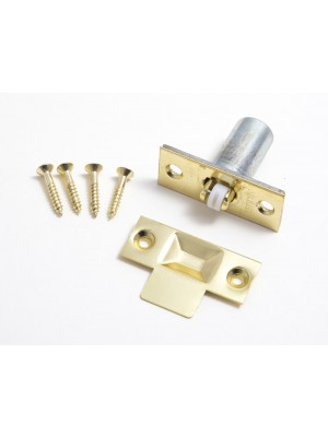 PREMIUM QUALITY ADJUSTABLE ROLLER CATCH EB BRASS PLATED STEEL