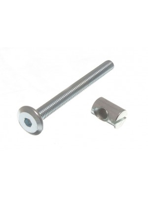 BARREL NUTS 14MM AND 4 x BOLTS M6 x 60MM FOR COTS BEDS