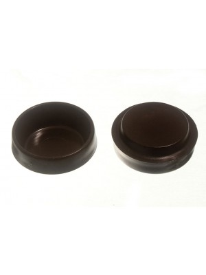 CASTOR CUPS FLOOR PROTECTOR GLIDERS SMALL BROWN 45MM