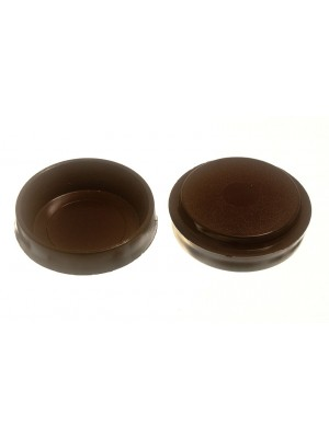 CASTOR CUPS FLOOR PROTECTOR GLIDERS LARGE BROWN 60MM