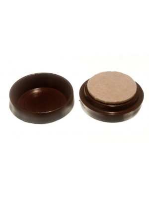 CASTOR CUPS FLOOR PROTECTOR GLIDERSLARGE BROWN WITH FELT PADS 60MM