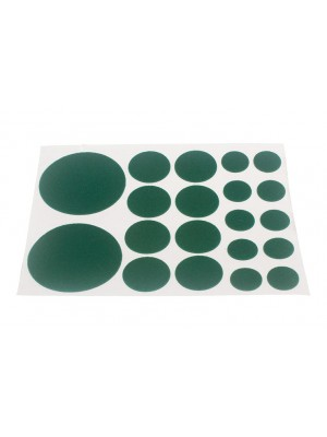 SHEET OF FELT PROTECTIVE PADS ASSORTED SIZES ( 20 PER SHEET )