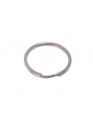 SPRUNG STEEL SPLIT KEY RING 50MM CP CHROME PLATED