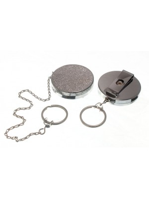 RECOIL KEY RING CHROMED NP NICKEL PLATED SPRUNG CHAIN 18 inch