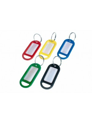 ASSORTED COLOURS KEY RINGS AND IDENTITY CARD TAG