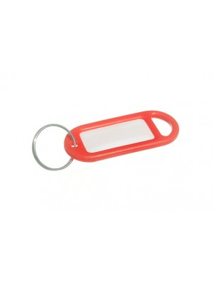 KEY RING AND IDENTITY CARD TAG RED