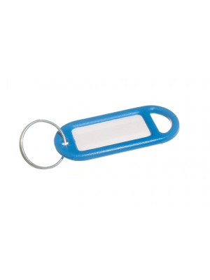 KEY RING AND IDENTITY CARD TAG BLUE