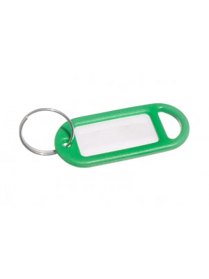 KEY RING AND IDENTITY CARD TAG GREEN