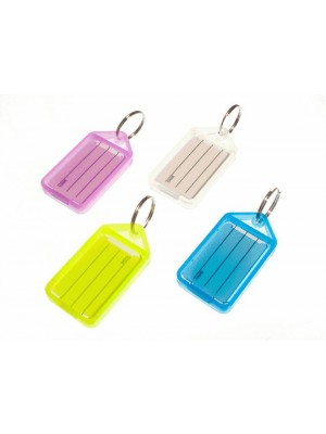 PACK OF 5 DIFERENT COLOURED LARGE IDENTITY KEY TAGS