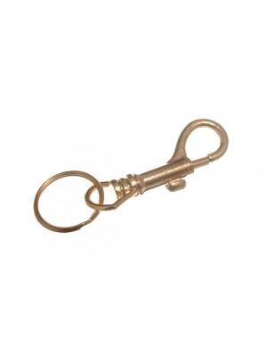 HIPSTER KEY RINGS EB BRASS PLATED SPRUNG STEEL 70MM ( 2.75 inch )