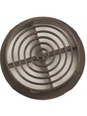 AIR VENT - SOFFIT LOUVRE BROWN 100mm FOR 100MM HOLE DIAMETER